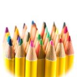 Farbige Bleistifte mit weißem Hintergrund Lizenzfreies Stockbild