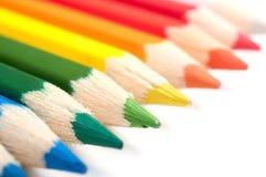 Farbige Bleistifte, Nahaufnahme Stockfoto