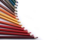farbige Bleistifte und Aquarell Lizenzfreie Stockbilder