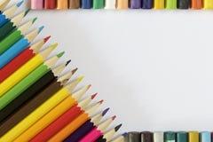 Farbige Bleistifte und Pastell Lizenzfreie Stockfotografie