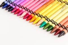 Farbige Bleistifte und Zeichenstifte Lizenzfreie Stockfotografie