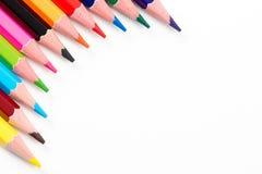Farbige Bleistifte vereinbart Stockbilder