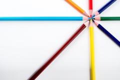 Farbige Bleistifte vereinbart Lizenzfreies Stockfoto