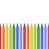 Farbige Bleistifte, Zeichenstifte auf weißem Hintergrund mit Platz für Text Lizenzfreie Stockfotografie