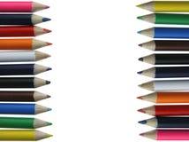 Farbige Bleistifte - Zeichenstifte - Kreiden Stockfotos