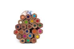 Farbige Bleistifte zusammen Stockbilder