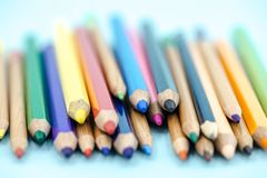 Farbige Bleistiftnahaufnahme Lizenzfreie Stockfotografie