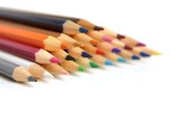 Farbige Bleistiftnahaufnahme Stockbilder
