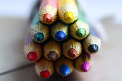 Farbige Bleistiftnahaufnahme Stockfotografie
