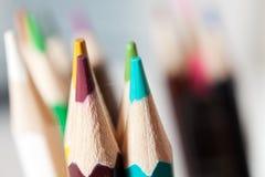 Farbige Bleistiftnahaufnahme Stockbild