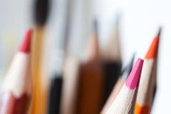 Farbige Bleistiftnahaufnahme Lizenzfreie Stockfotos