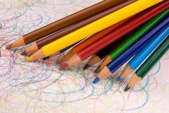 Farbige Bleistiftzeichnung Lizenzfreies Stockbild