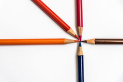 Farbige Bleistiftzeichnung Stockbilder