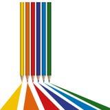 farbige Bleistiftzugseile lizenzfreie abbildung