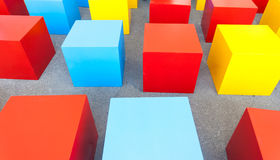 Farbige Blockwürfel Stockbild