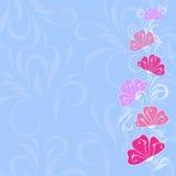Farbige Blumenauslegung Stockbild
