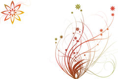 Farbige Blumenverzierungen vektor abbildung