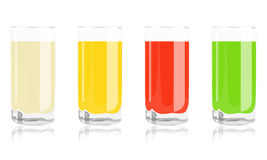 Farbige Cocktails im Glas Stockbild