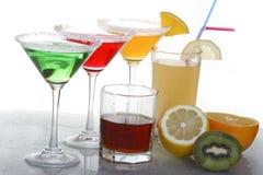 Farbige Cocktails u. Whisky 2 Lizenzfreies Stockfoto