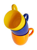 Farbige Cup Lokalisierter Hintergrund Stockbild