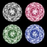 Farbige Diamanten. stock abbildung