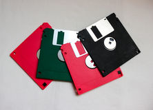 Farbige Diskette Lizenzfreies Stockbild