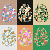 Farbige Eier stock abbildung