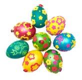 Farbige Eier für Ostern stockbilder