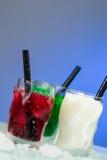 Farbige Eisschüsse Lizenzfreies Stockfoto