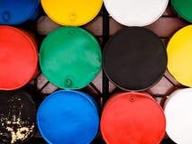 Farbige Fässer Stockfoto