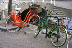 Farbige Fahrräder Lizenzfreies Stockfoto