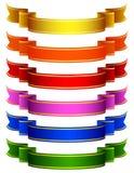 Farbige Farbbänder Stockfoto