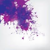 Farbige Farbe spritzt auf abstraktem Hintergrund Lizenzfreies Stockbild