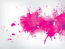 Farbige Farbe spritzt auf abstraktem Hintergrund Lizenzfreie Stockbilder