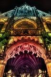 Farbige Fassade der Kirche Stockbilder