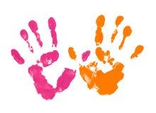 Farbige Finger auf dem Weiß lizenzfreies stockbild