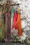 Farbige Fischernetze Lizenzfreies Stockbild