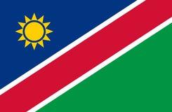 Farbige Flagge von Namibia Stockbilder