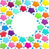 Farbige Flecke des nahtlosen Musterhintergrundes der Farbe lizenzfreie abbildung