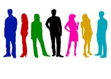 Farbige Freunde Stockfoto