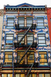 Farbige gemalte Fassade Lizenzfreies Stockbild