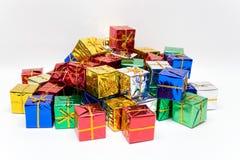 Farbige Geschenke Stockbild