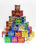 Farbige Geschenke Stockfoto