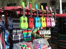 Farbige Gitarren Stockfotografie