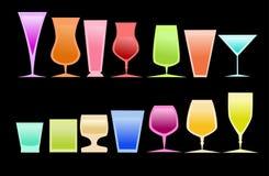 Farbige Gläser lizenzfreie stockfotografie