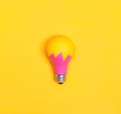 Farbige Glühlampe Stockfotografie