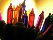 Farbige Glühlampen lizenzfreie stockbilder