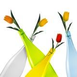 Farbige Glasflasche Stockfoto