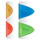 Farbige grunge Kennsätze Stockfoto