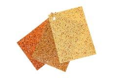 Farbige Gummibodenbelagproben Stockbilder